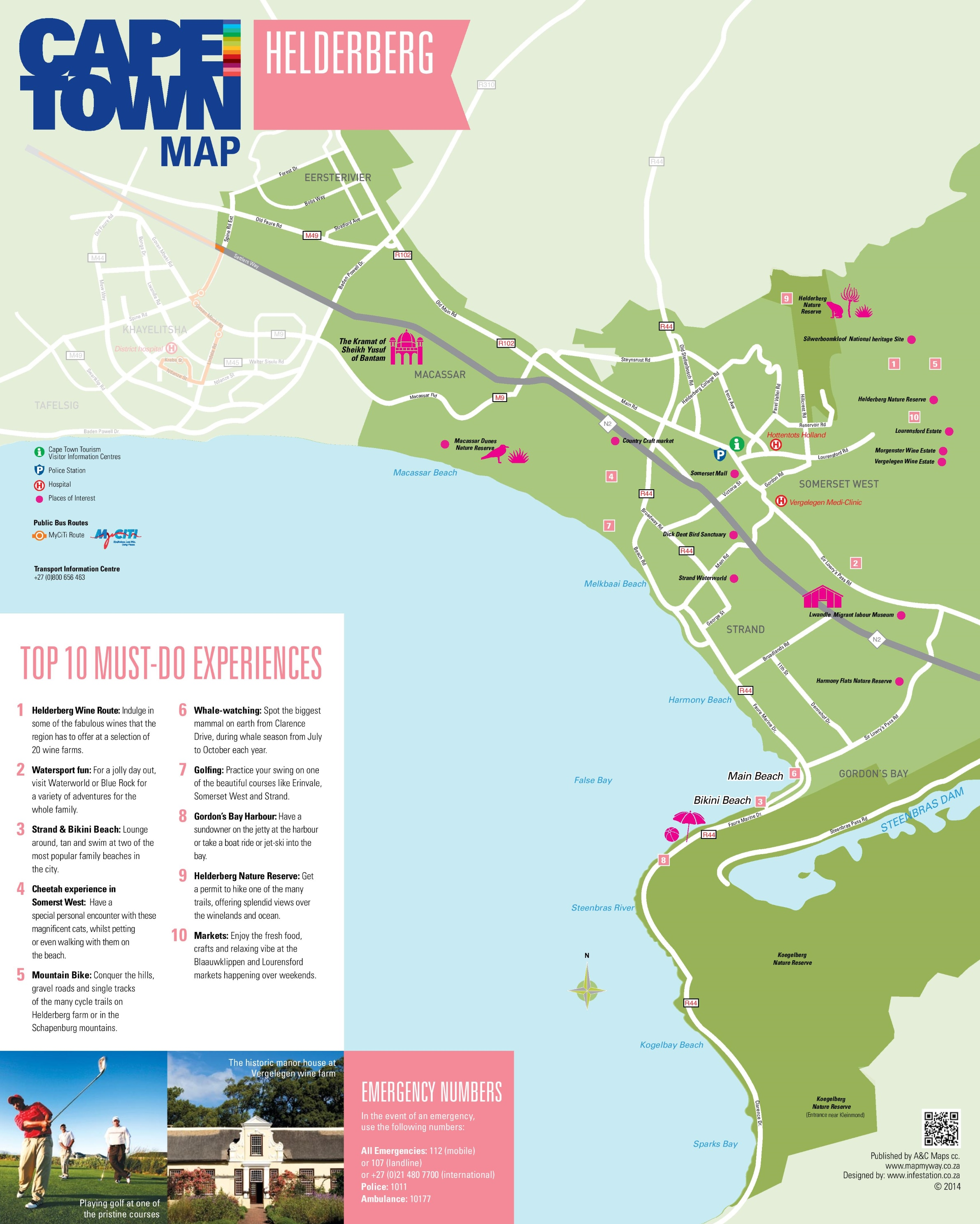 Helderberg map Cape Town