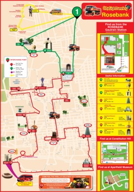 Johannesburg sightseeing map
