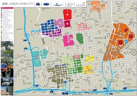 Johannesburg tourist map