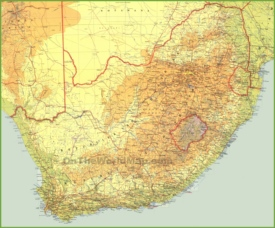 Large detailed map of South Africa