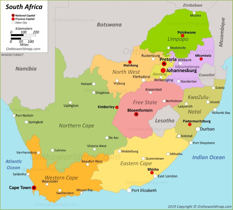 Map South Africa Printable South Africa Maps | Maps of Republic of South Africa