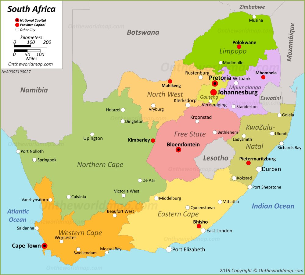 map pf south africa South Africa Maps Maps Of Republic Of South Africa map pf south africa