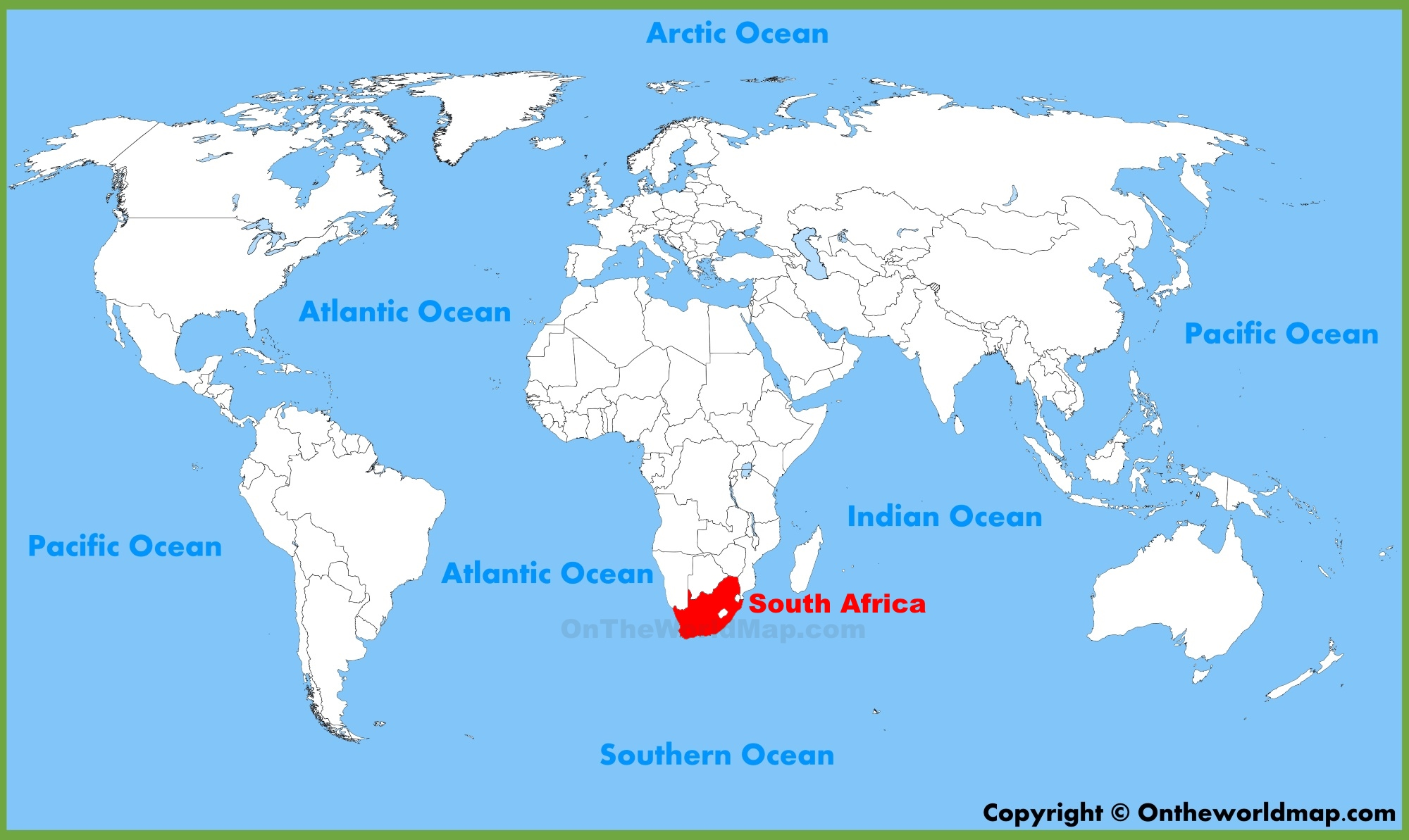 South Africa World Map South Africa location on the World Map