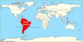 South America location map