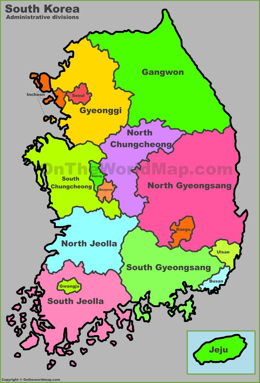 South Korea Maps Maps Of South Korea Republic Of Korea - Map of south korea