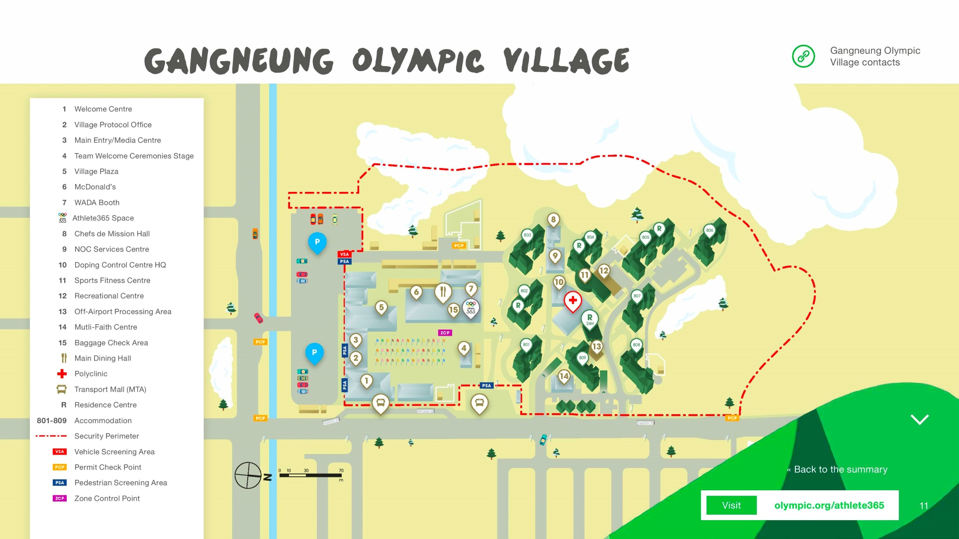 Gangneung Olympic Village map