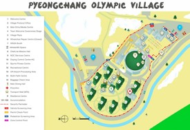 Pyeongchang Olympic Village map