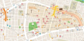 Apgujeong and Cheongdam shopping map