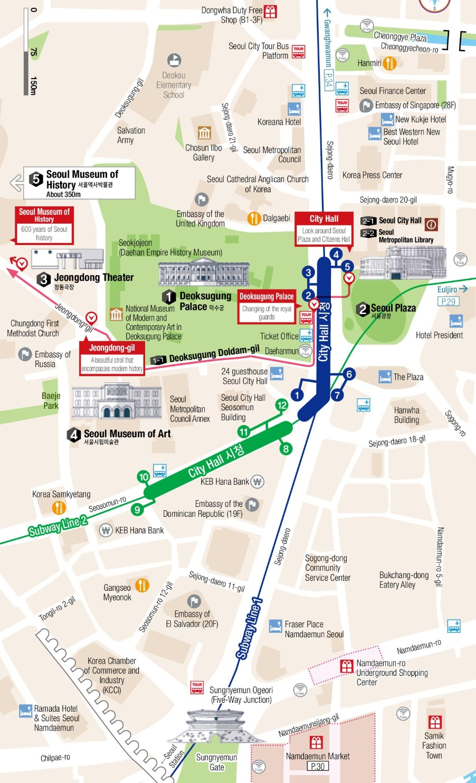 Seoul City Hall Area Map