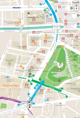 Dongdaemun shopping map