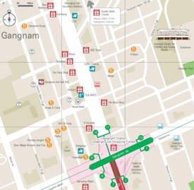 Gangnam shopping map