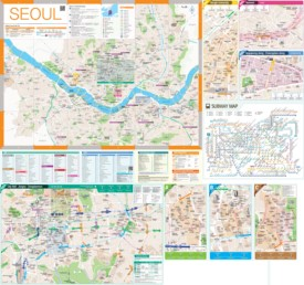 Large detailed tourist map of Seoul