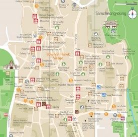 Samcheong-dong shopping map