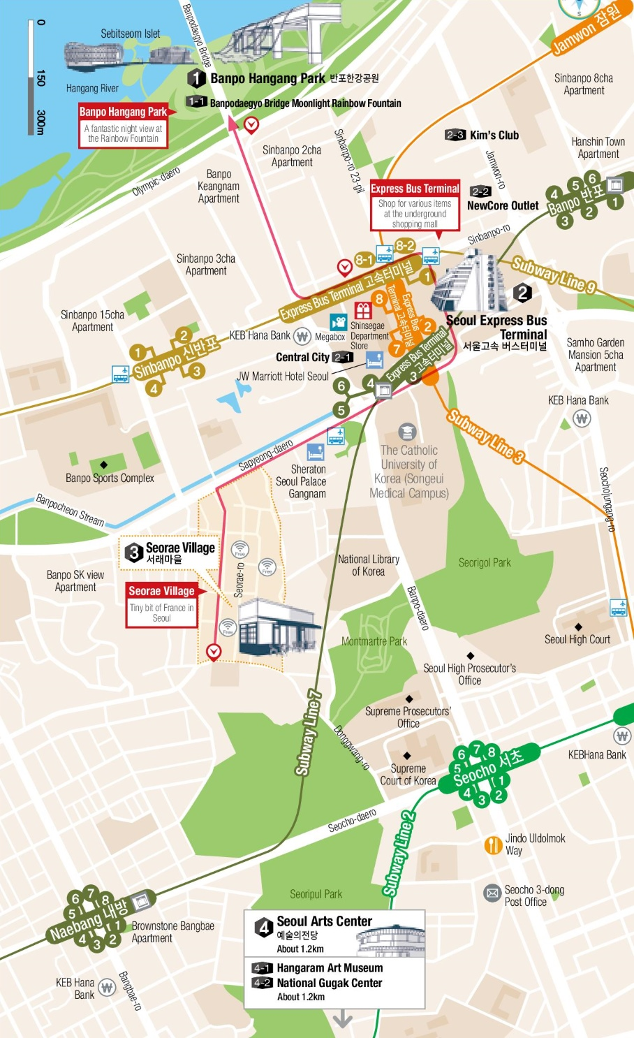 Seocho map Seoul