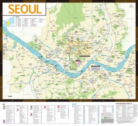 Seoul hotels and sightseeings map