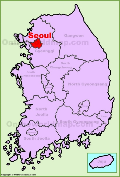 Seoul Location Map