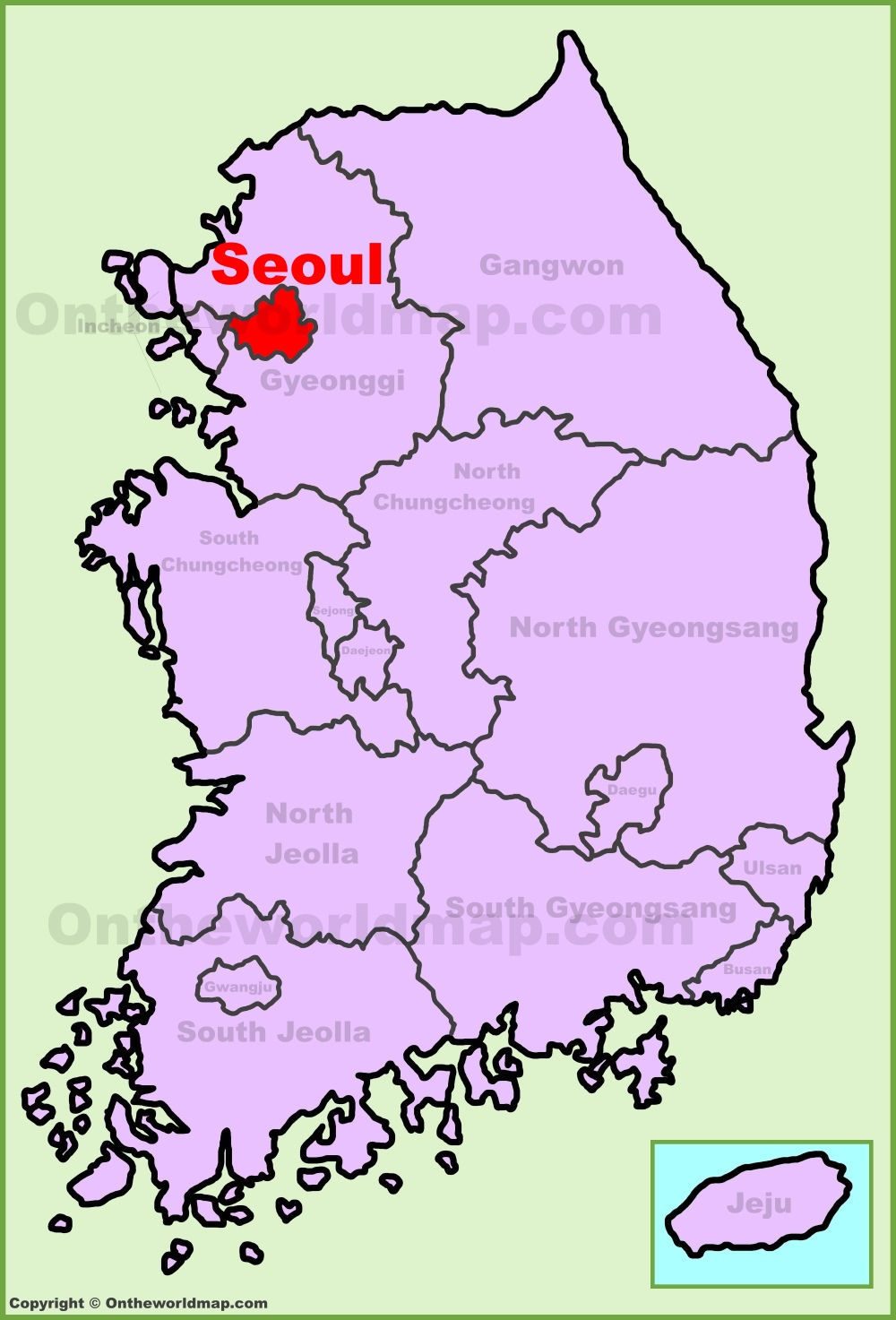Seoul location on the south korea map seoul location on the south korea map gumiabroncs Image collections