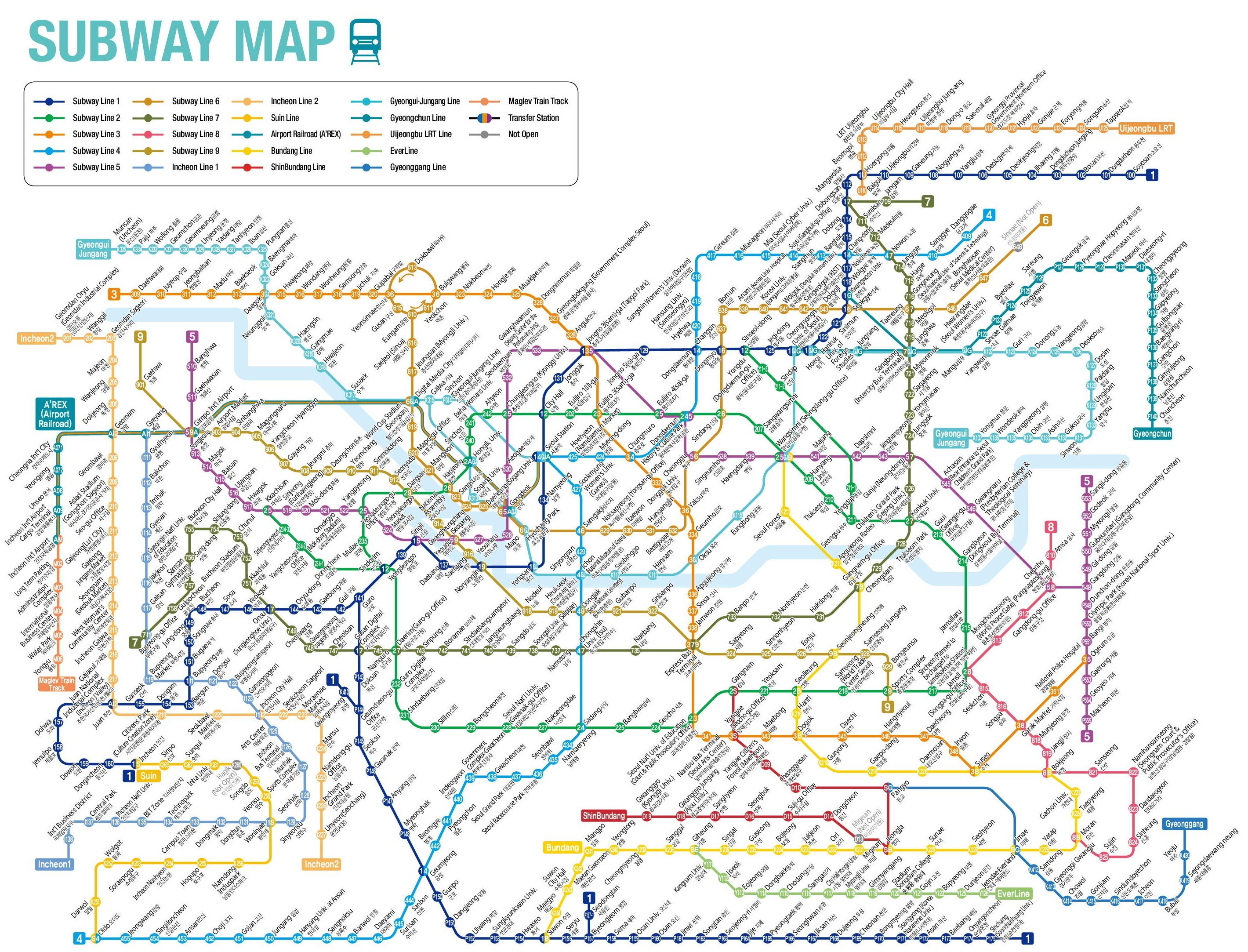 South Korea Subway Map
