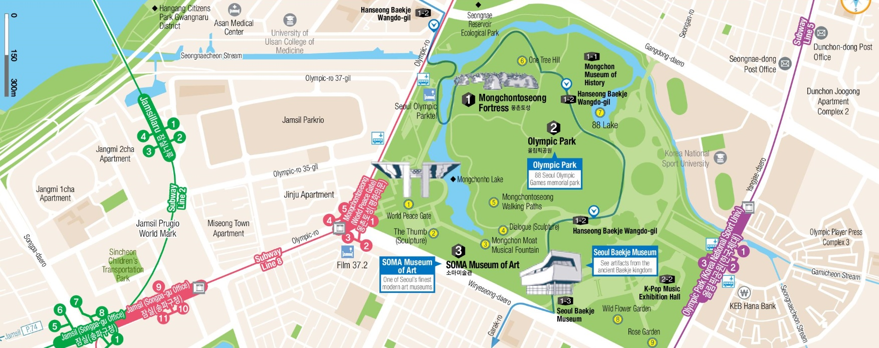 Songpa map Seoul