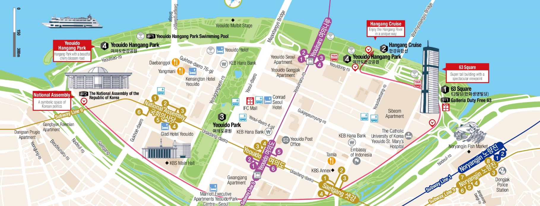 Yeouido map seoul click to see large yeouido map gumiabroncs Image collections