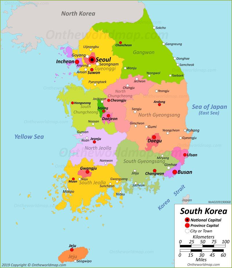 south korea map seoul South Korea Maps Maps Of South Korea Republic Of Korea