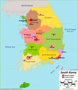 Political Map of South Korea
