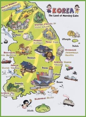 Tourist map of South Korea
