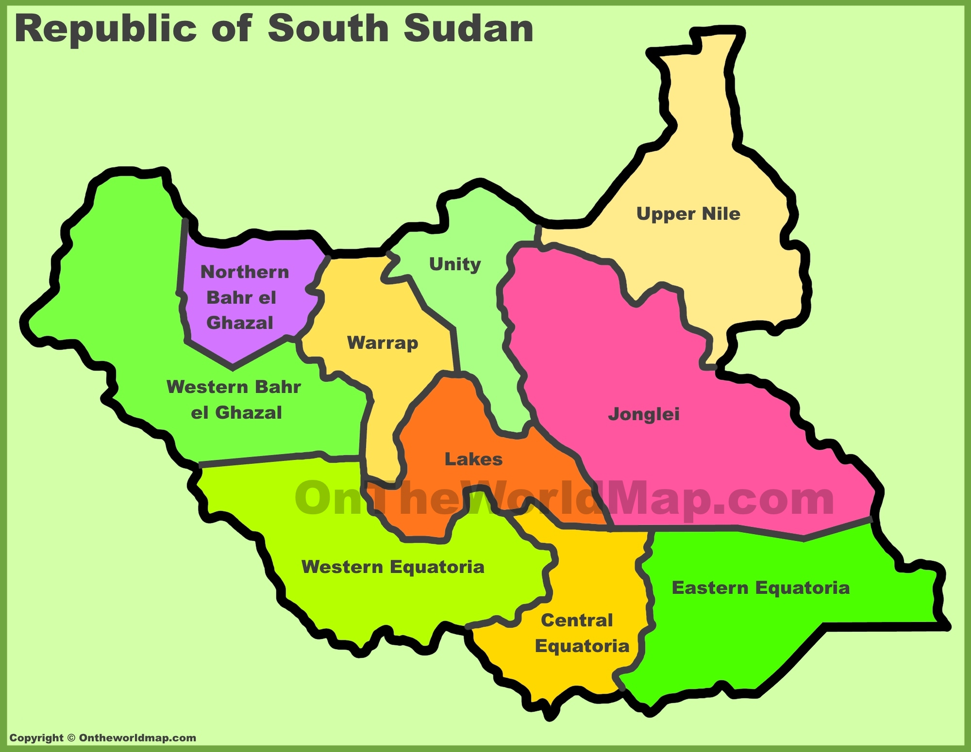 South Sudan Maps Maps of South Sudan