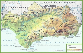 Andalusia physical map