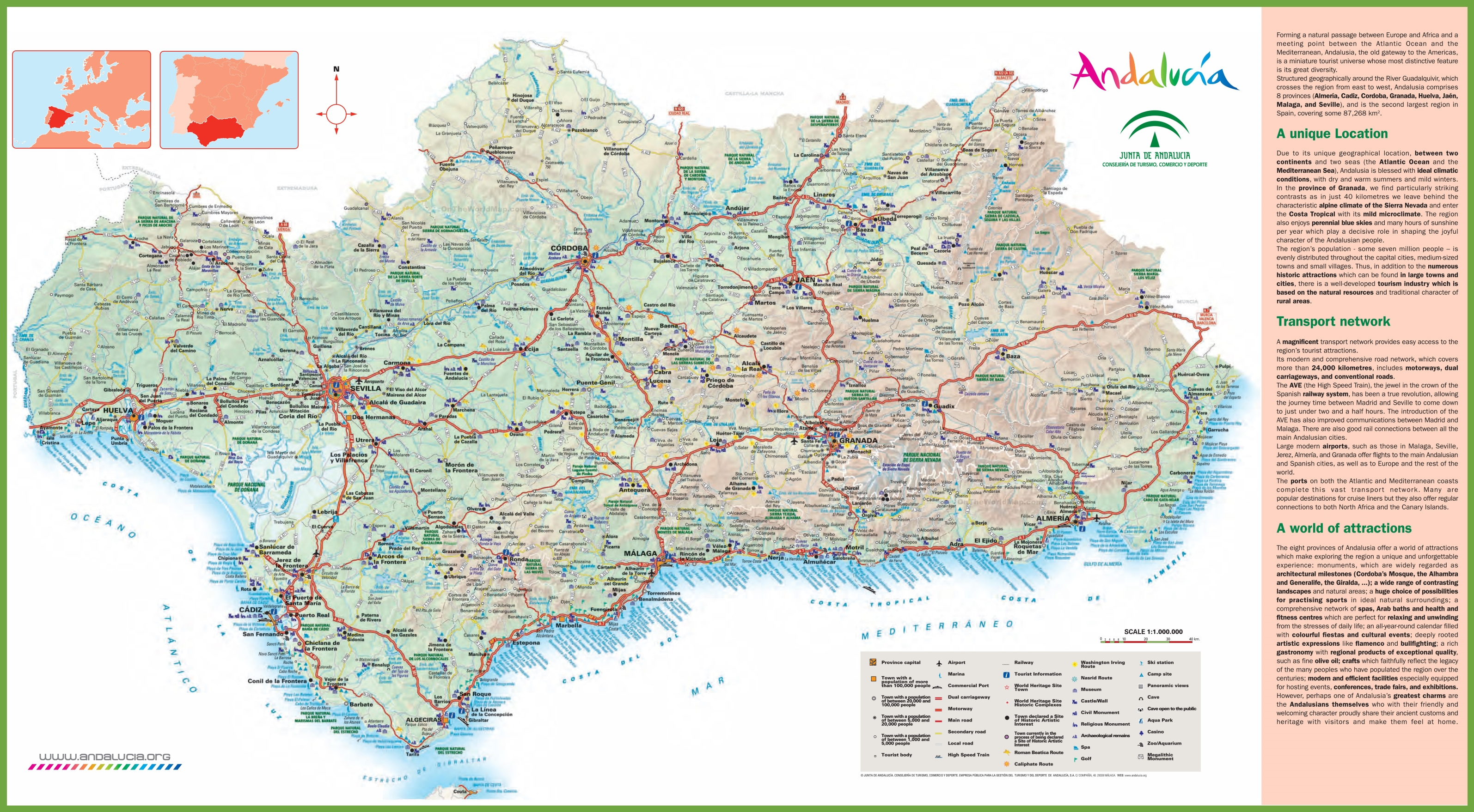 Andalusia Road Map - Map of andalusia