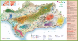 Andalusia tourist map