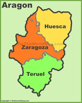 Aragon provinces map