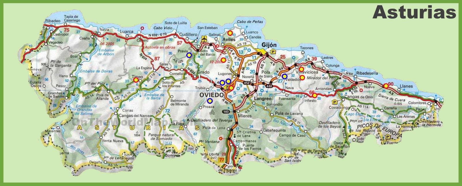 Asturias road map