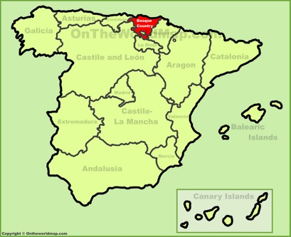 Basque Country Location Map