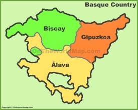Basque Country provinces map