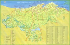 Cantabria tourist map
