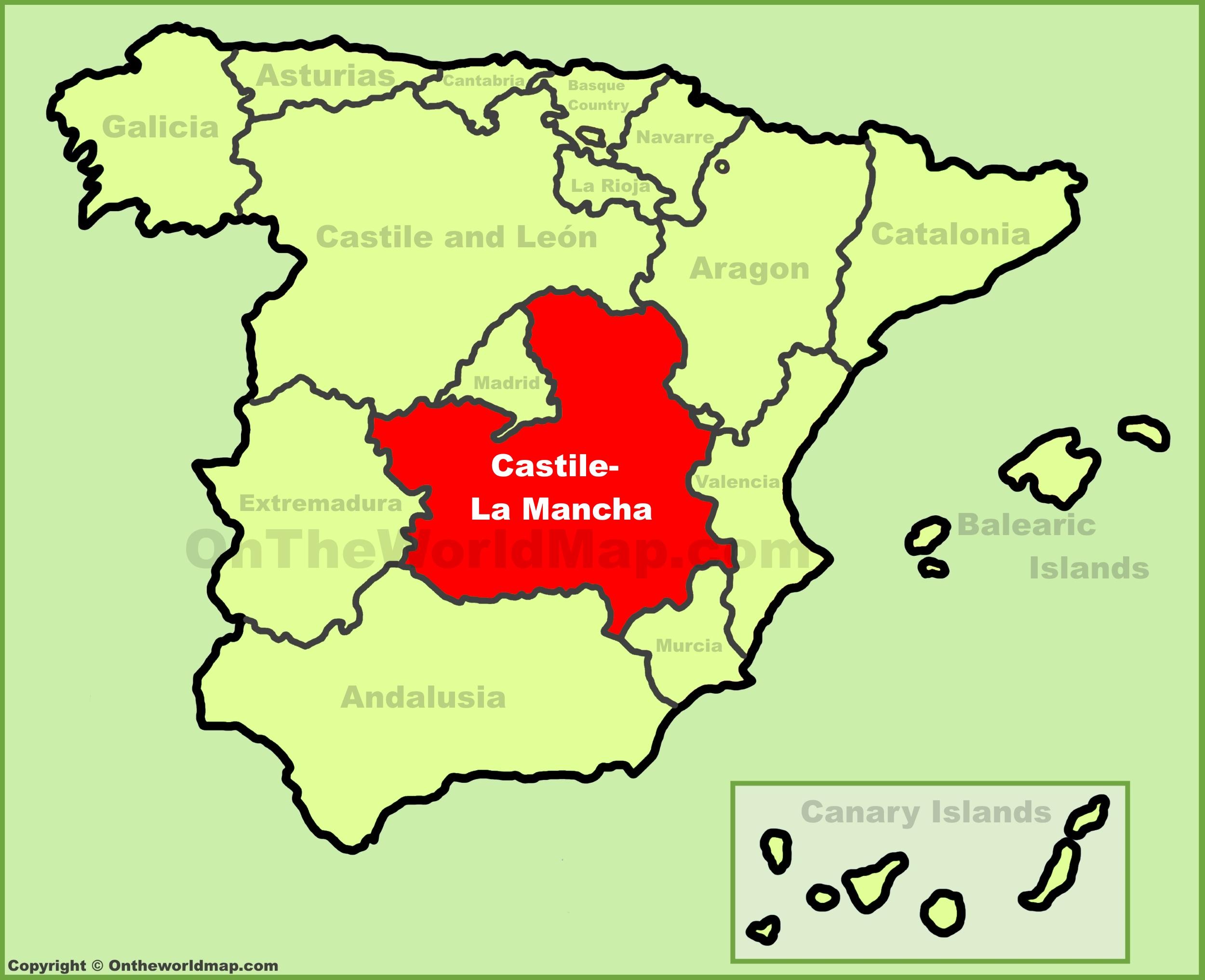 Map Of Spain La Mancha.Castilla La Mancha Maps Spain Maps Of Castilla La Mancha