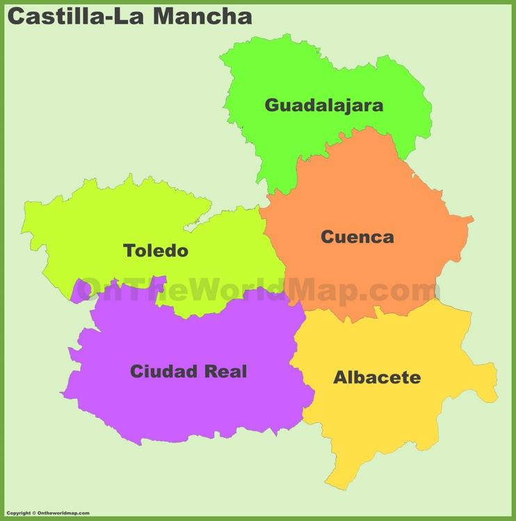 Castilla-La Mancha provinces map