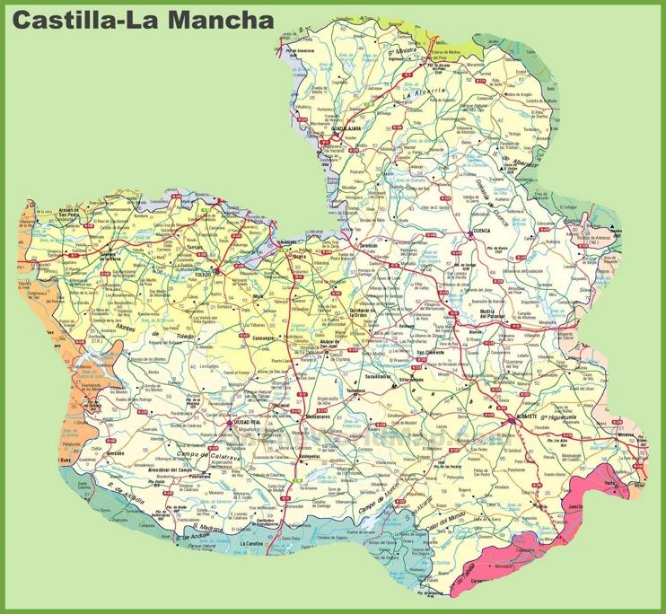 Castilla-La Mancha road map