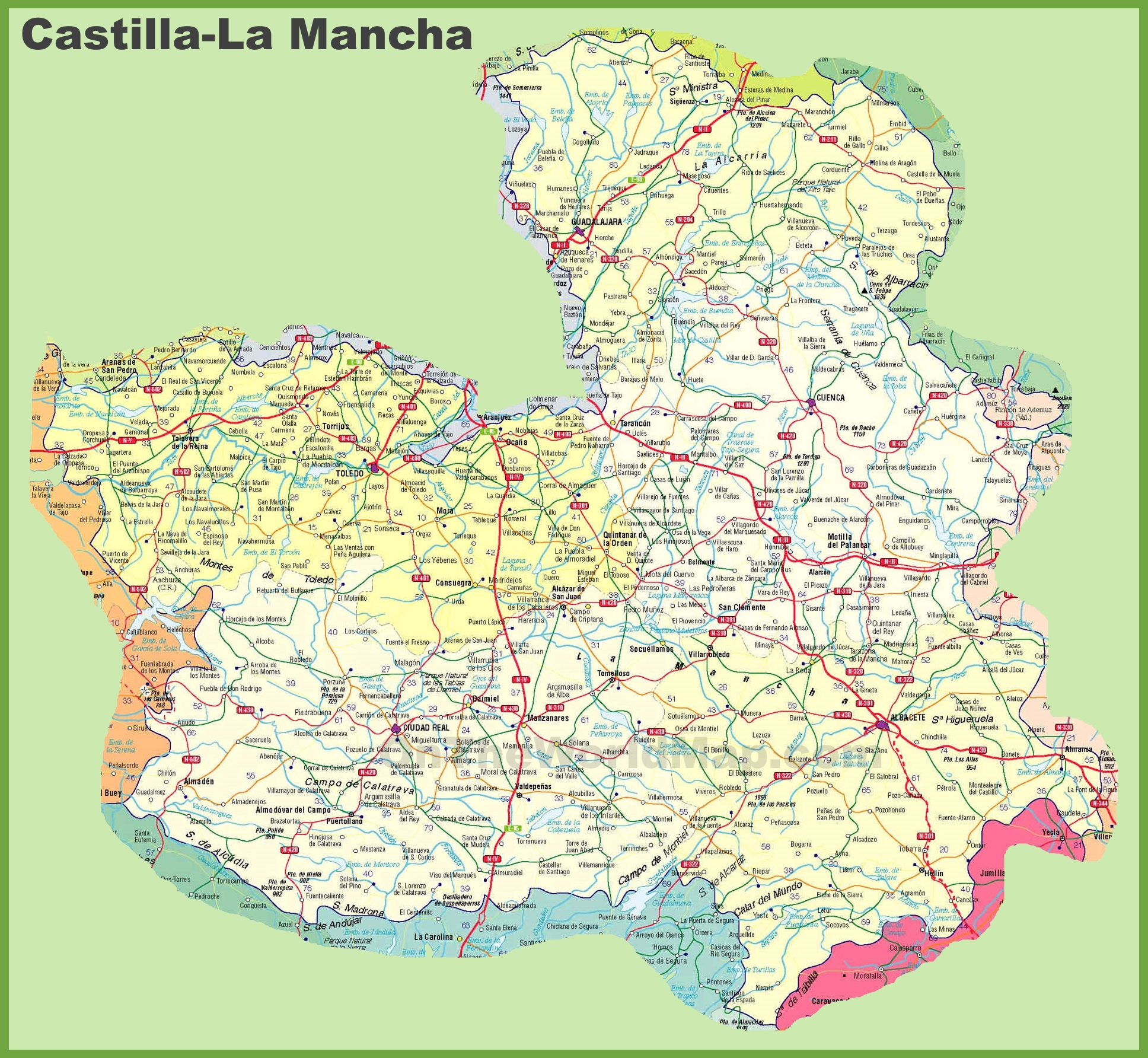 CastillaLa Mancha road map