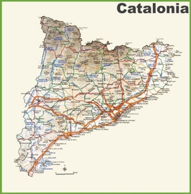 Catalonia road map