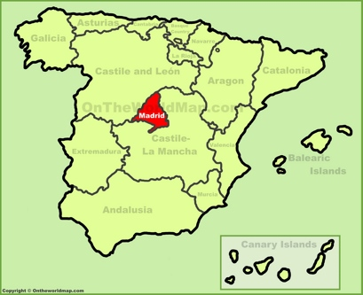 Community of Madrid Location Map