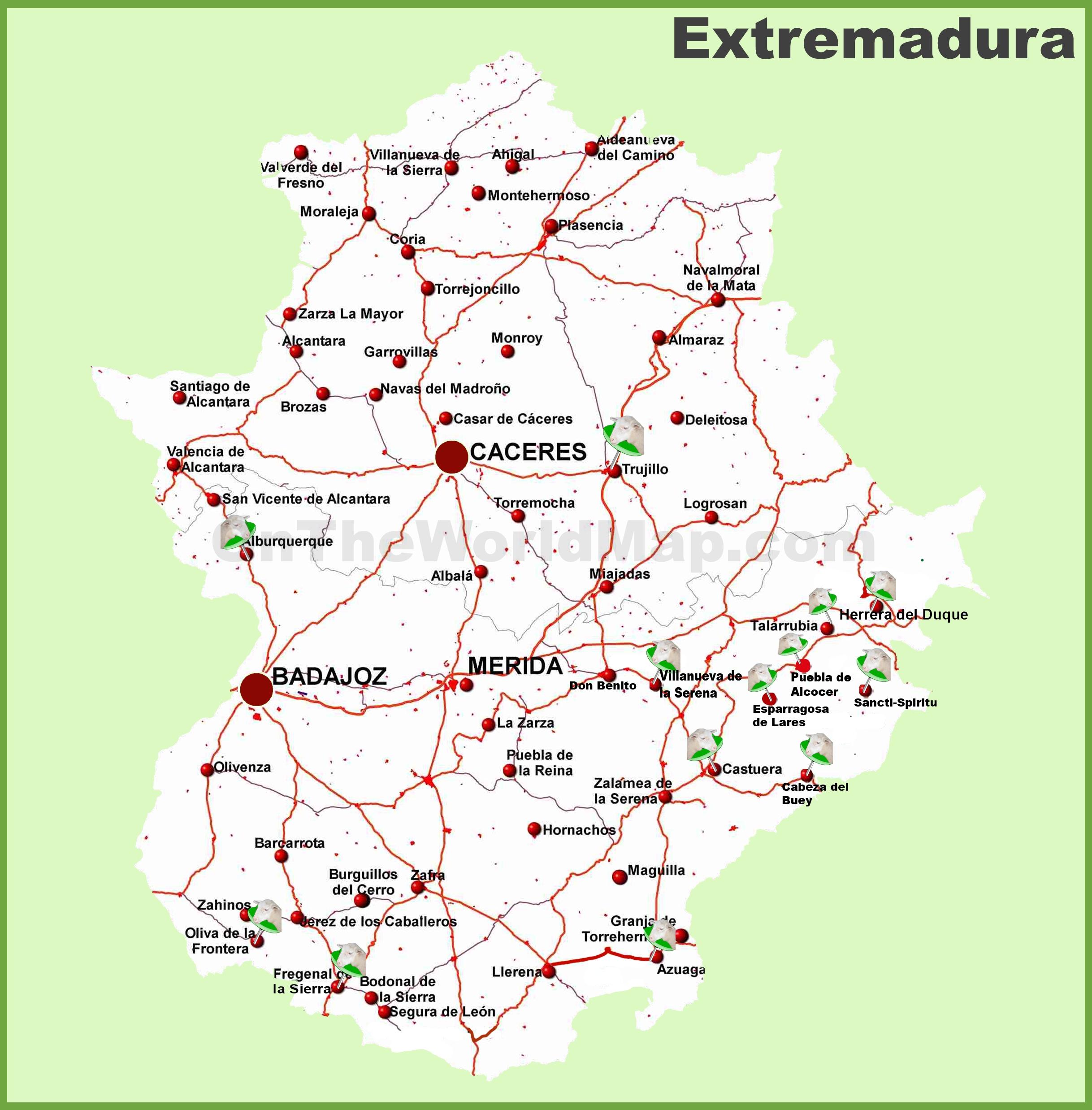 Extremadura road map