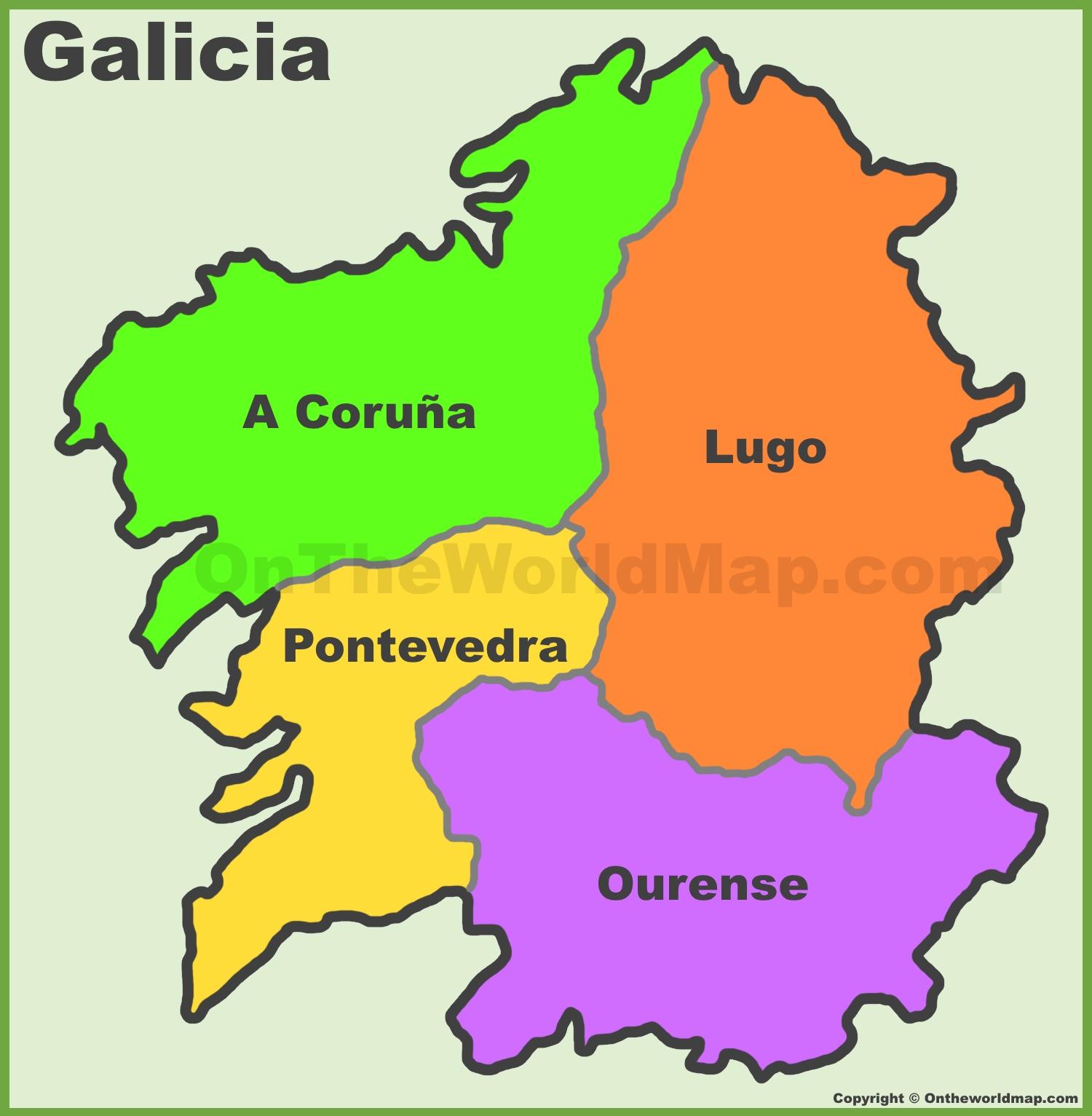 Galicia Provincias Mapa