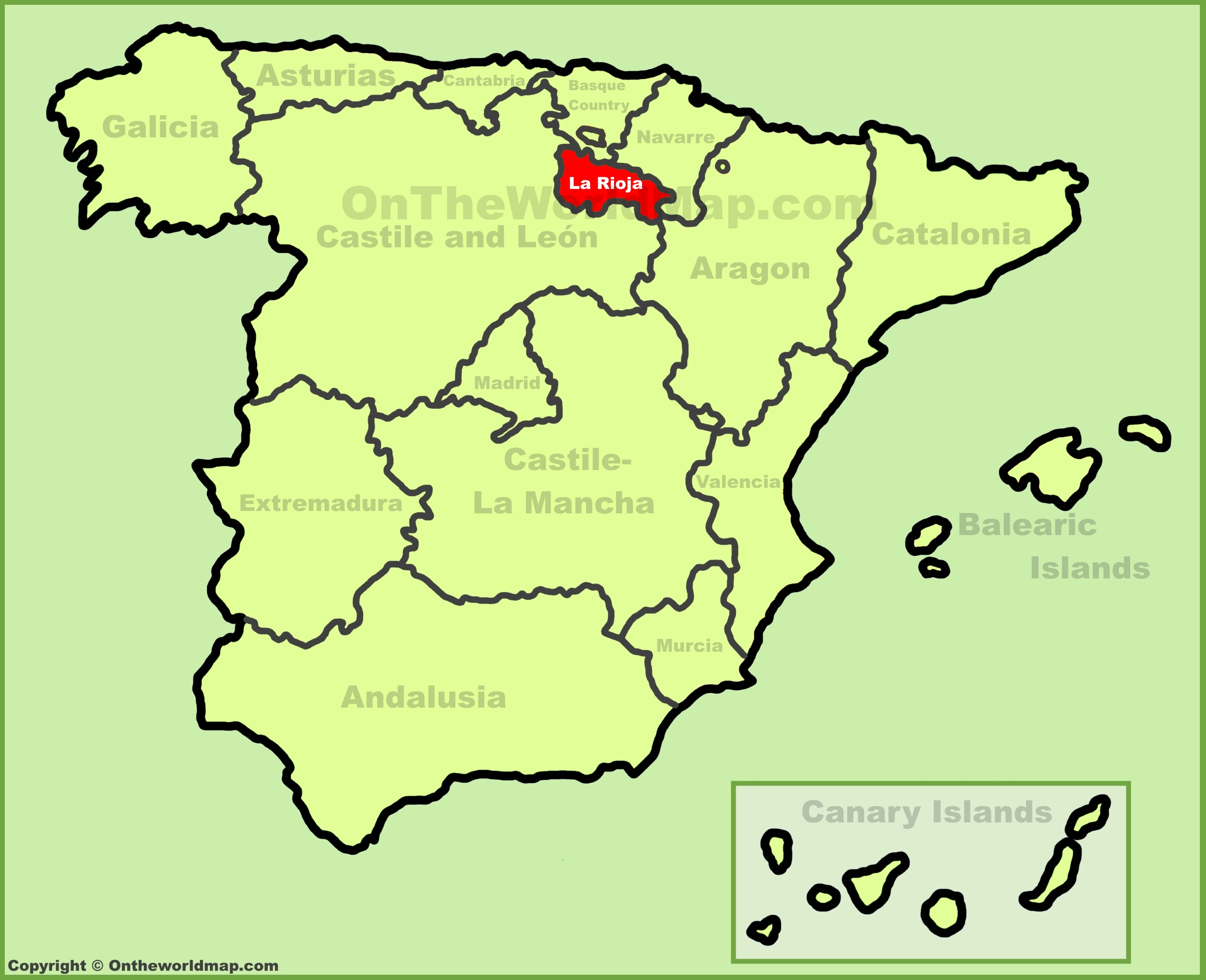 La Rioja location on the Spain map