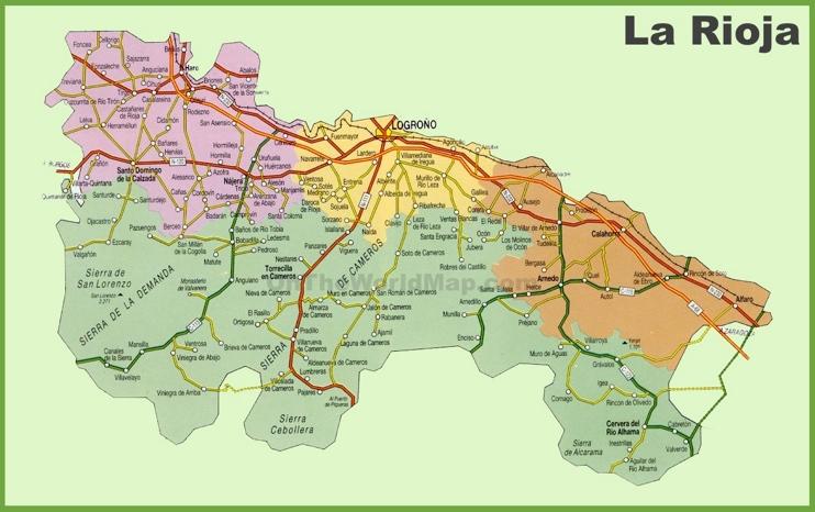 La Rioja carreteras mapa