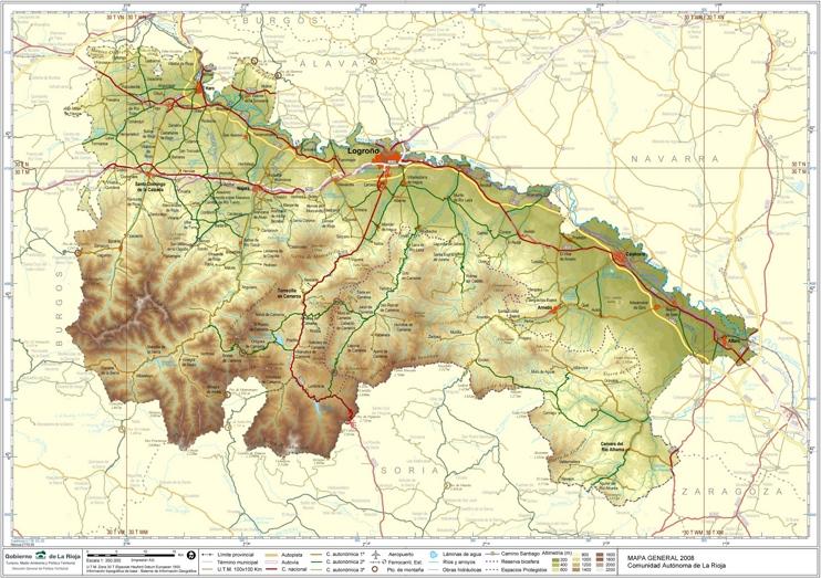 Gran mapa detallado de La Rioja con ciudades y pueblos