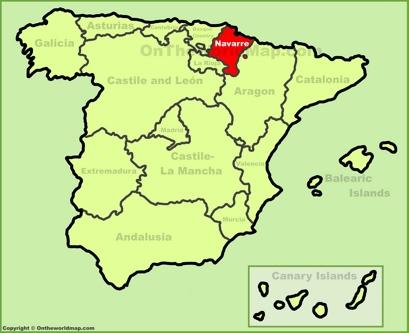 Navarre Location Map