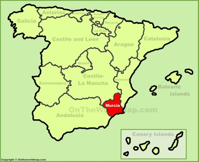 Region of Murcia Location Map