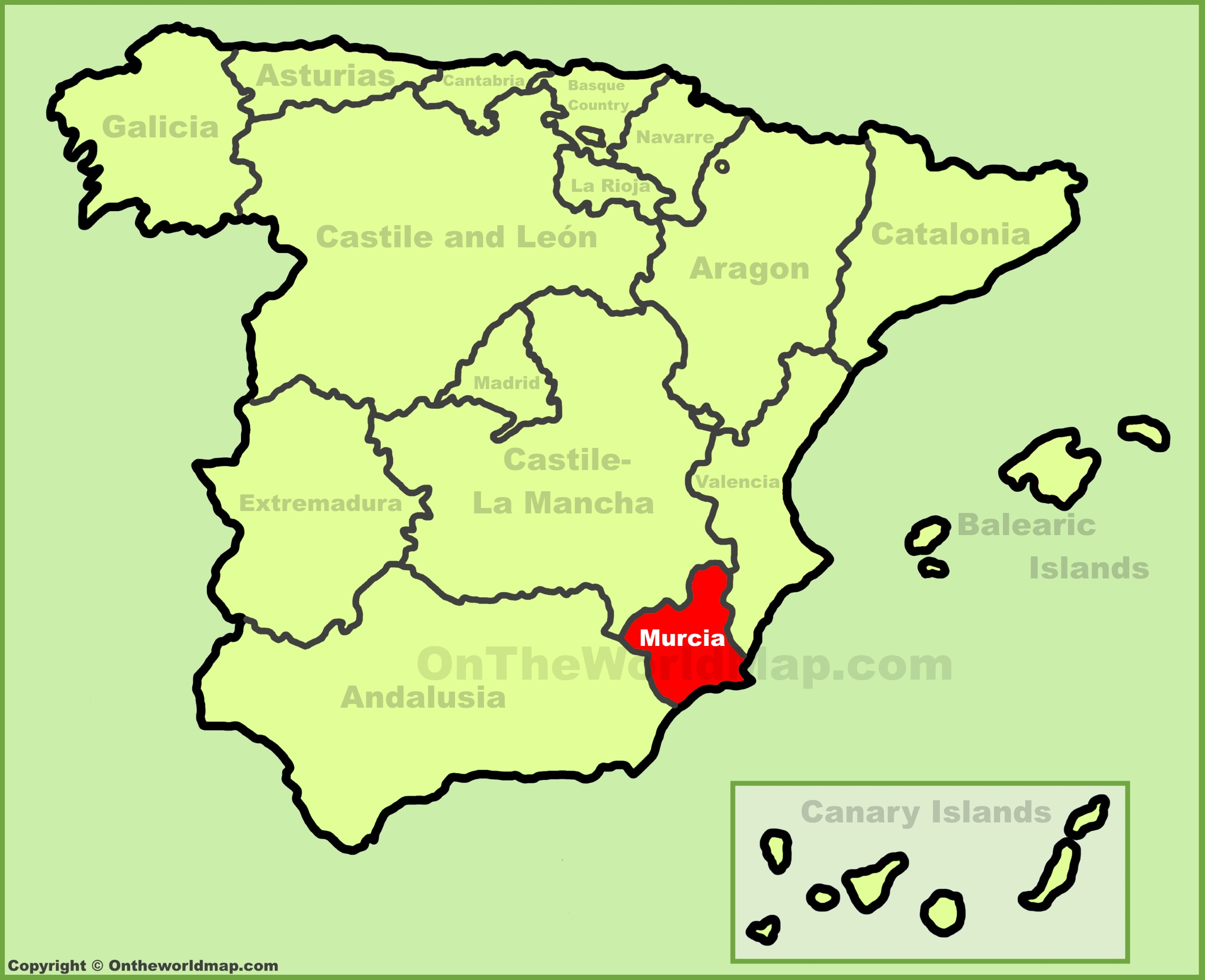 Show Murcia On Map Of Spain.Region Of Murcia Maps Spain Maps Of Region Of Murcia